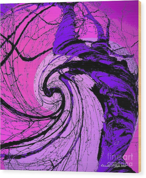 Birch - Purple And Pink Wood Print