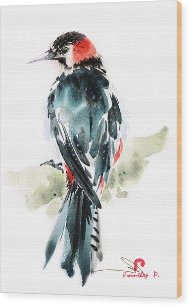 Bird Art Wood Print