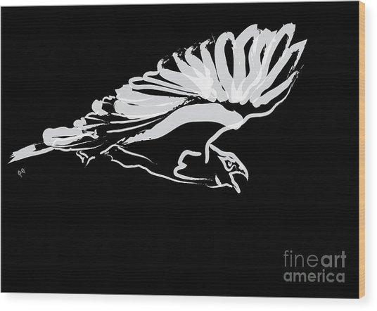 Bird Buzzard  Wood Print