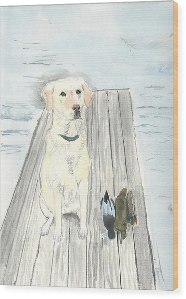 Bird Dog Wood Print