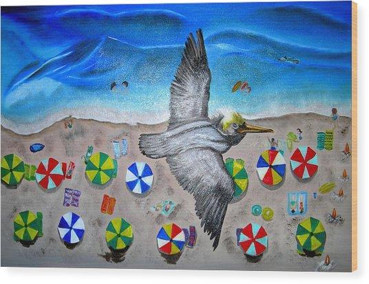 Bird Wood Print by Kathern Welsh