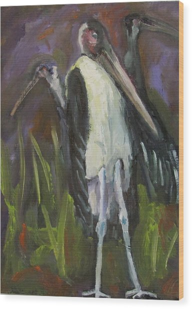 Bird Legs Wood Print