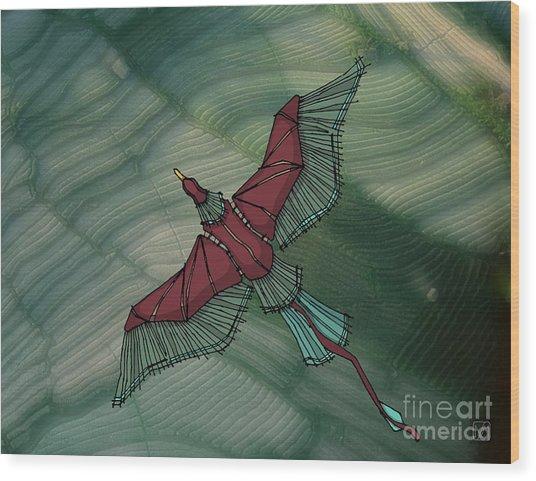 birdEYE volcano III Wood Print