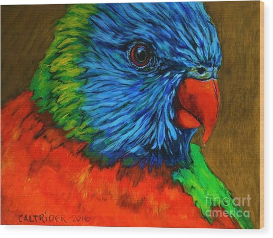 Birdie Birdie Wood Print