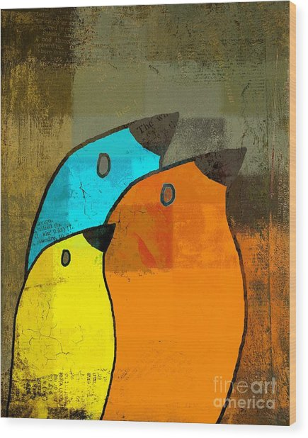 Birdies - C02tj1265c2 Wood Print