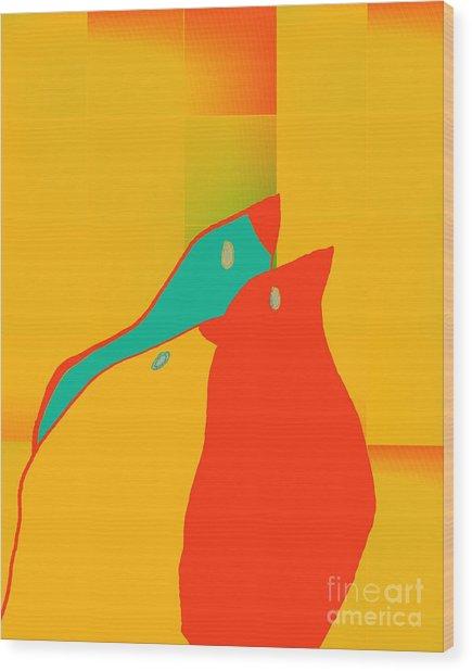 Birdies - P01p2t6 Wood Print