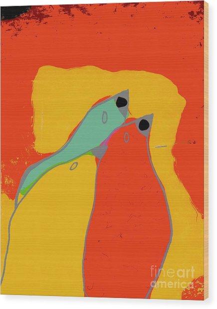 Birdies - Q11a Wood Print