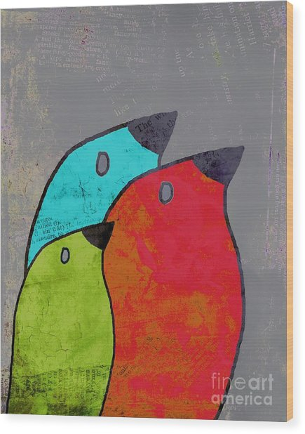 Birdies - V11b Wood Print