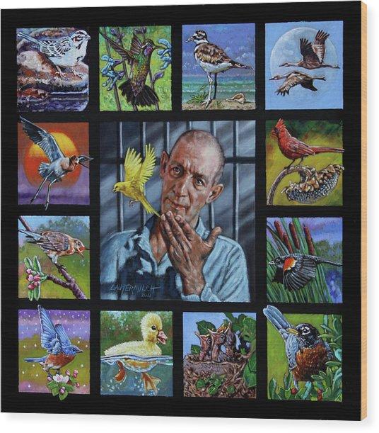Birdman Of Alcatraz Wood Print