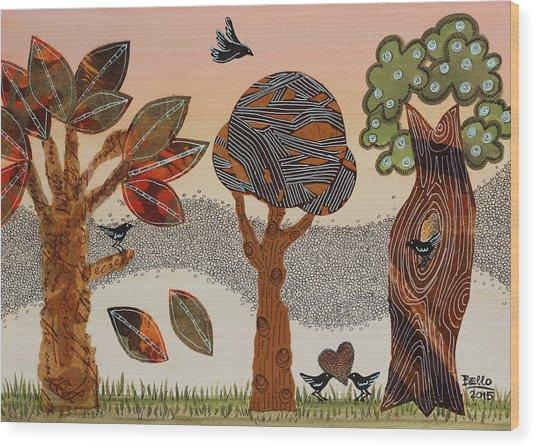 Birds Refuge Wood Print