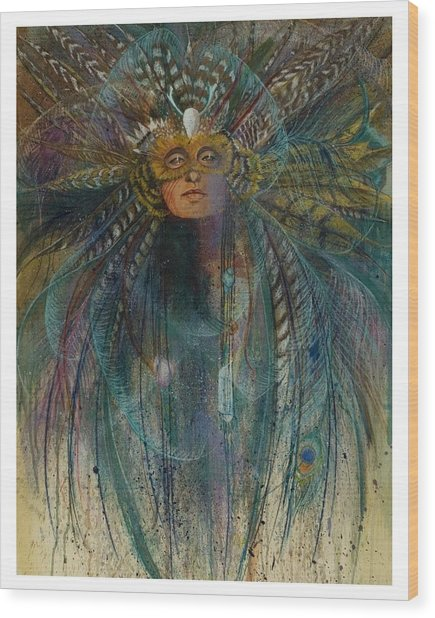 Birdtribe Magic Wood Print by Pamela Mccabe