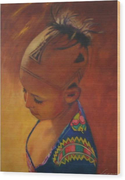 Birmanese Girl Wood Print by Leonor Thornton