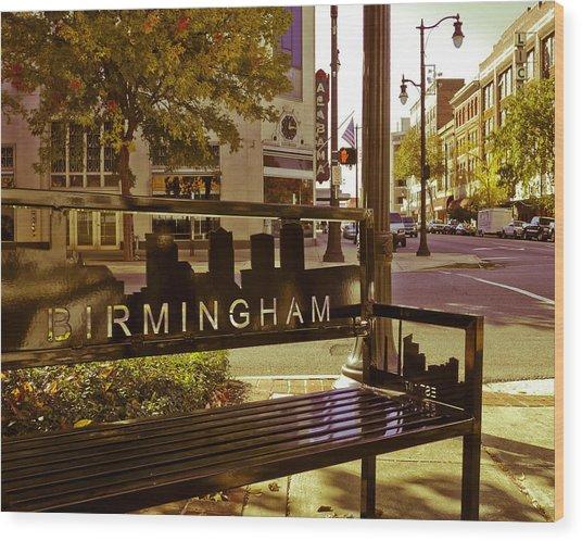 Birmingham Bench Wood Print
