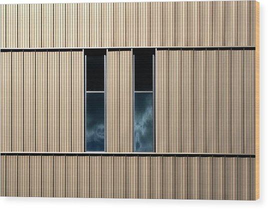 Birmingham Windows 2 Wood Print