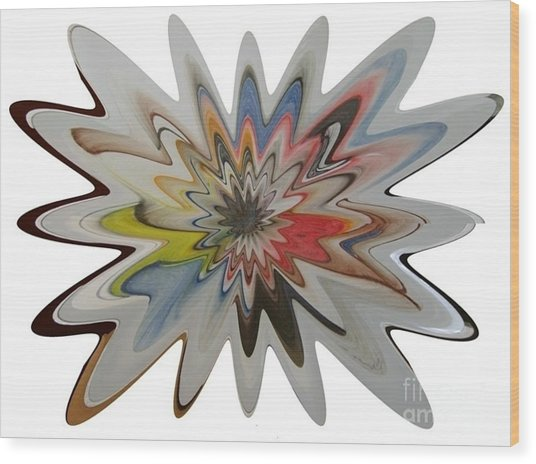 Birth Of A Star Wood Print
