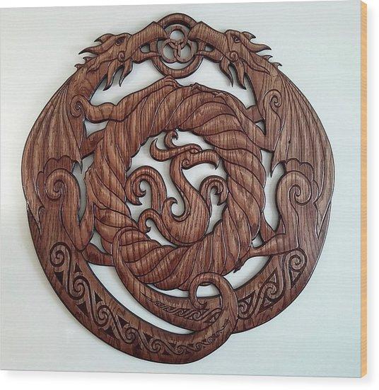 Birth Of The Phoenix Wood Print