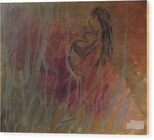 Birth Pains Wood Print by Lisa  Graham