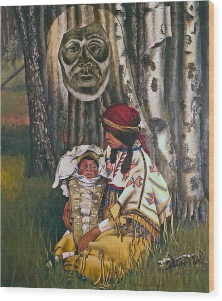 Birth Spirit Wood Print by Peter Muzyka