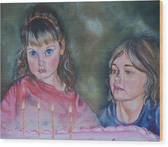 Birthday Candles Wood Print by Sandra Valentini