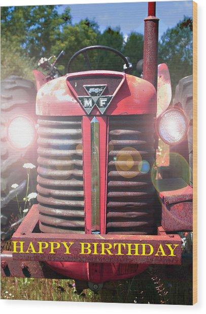 Birthday Card -- Big M-f Wood Print