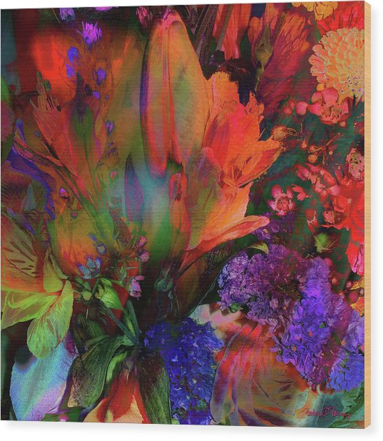 Birthday Flowers Wood Print