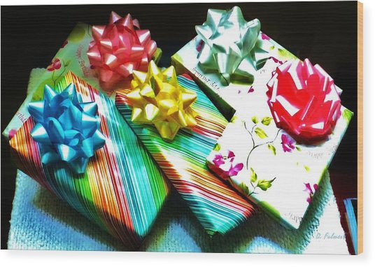 Birthday Presents Wood Print