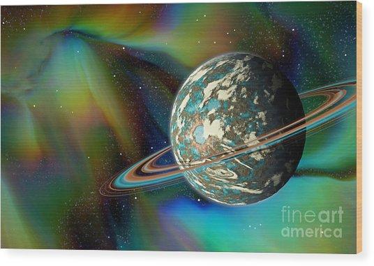 Birthing Planet Wood Print