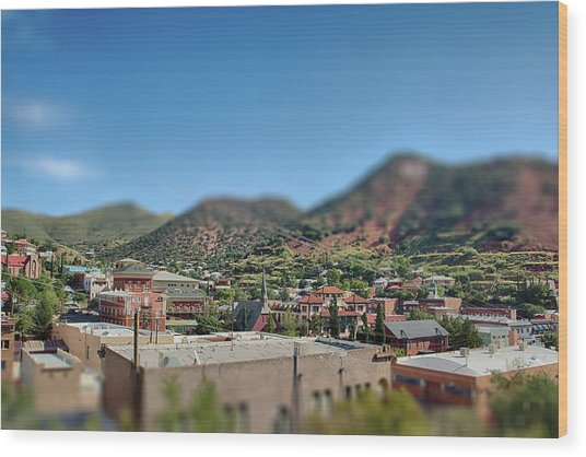 Wood Print featuring the photograph Bisbee Arizona by Dan McManus