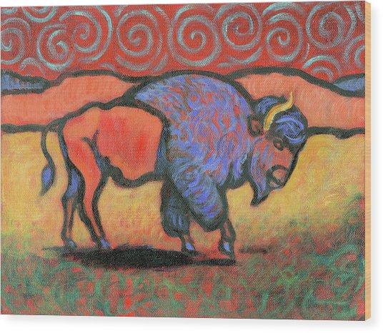 Bison Totem Wood Print
