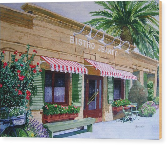 Bistro Jeanty Napa Valley  Wood Print
