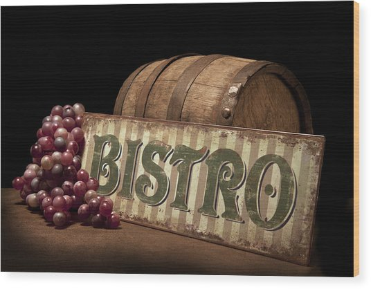 Bistro Still Life Iv Wood Print