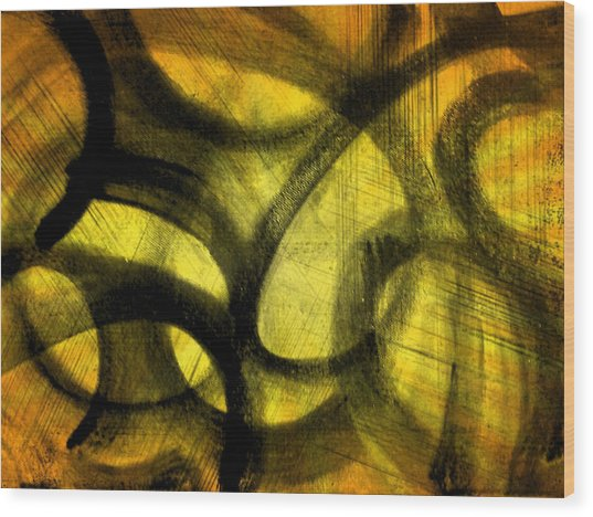 Biting Soul Wood Print
