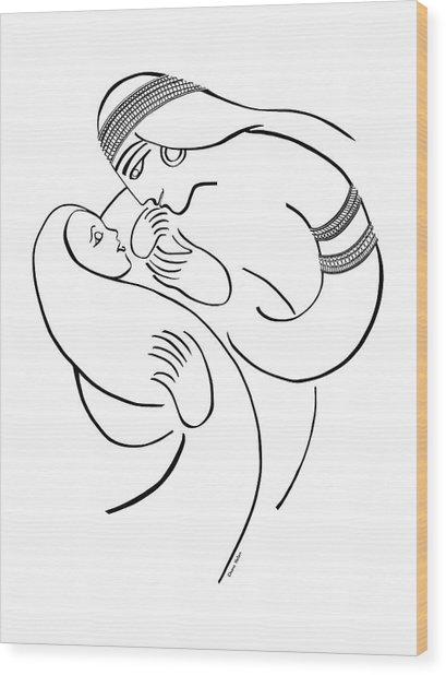 Bitya, Pharoah's Daughter Wood Print by Chana Helen Rosenberg