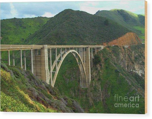 Bixby Bridge In Big Sur Wood Print
