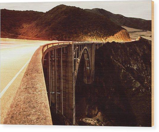 Bixby Creek Bridge, California Wood Print