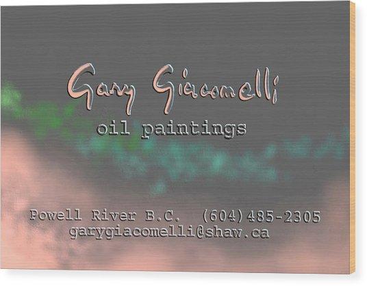 Biz Card Wood Print