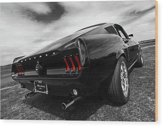 Black 1967 Mustang Wood Print