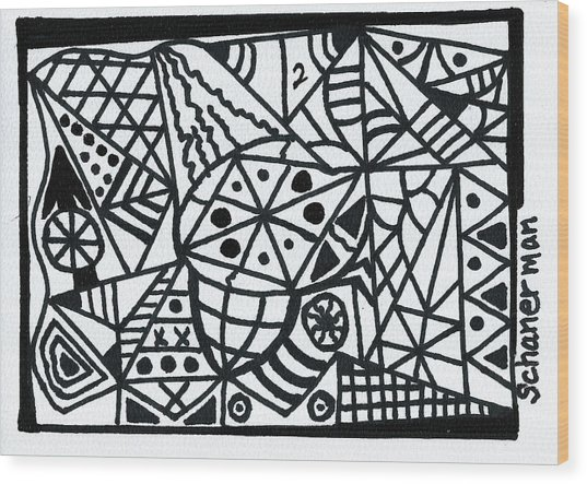 Black And White 2 Wood Print