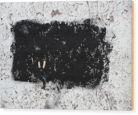 Black And White Abstraction Wood Print by JoAnn Lense