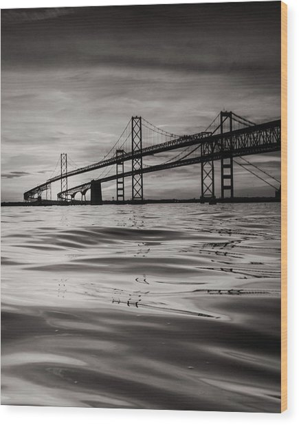 Black And White Reflections 2 Wood Print