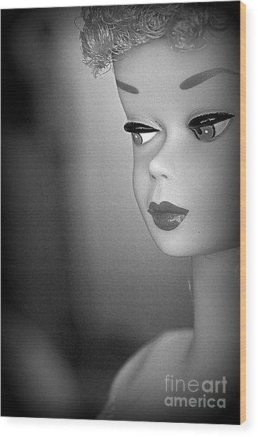 Black And White Reproduction Wood Print