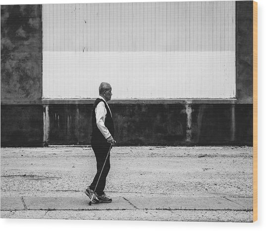 Black And White Street Photography Wood Print by Dylan Murphy