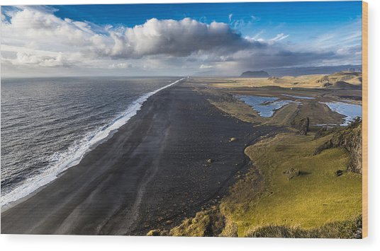Wood Print featuring the photograph Black Beach by James Billings
