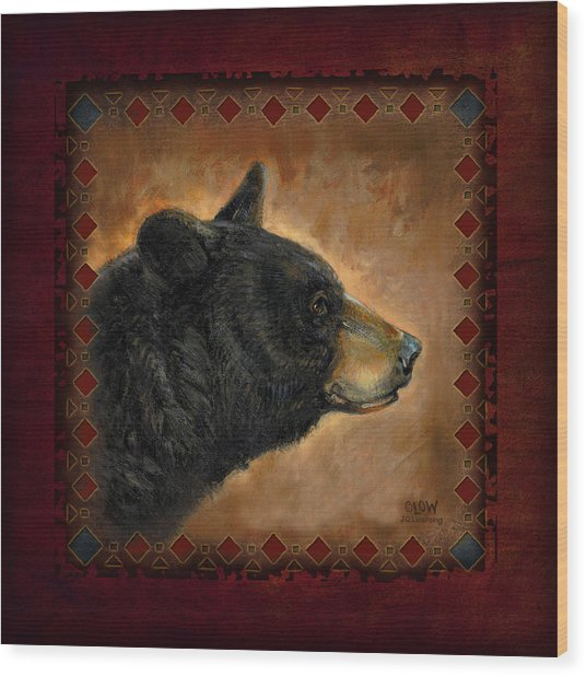 Black Bear Lodge Wood Print