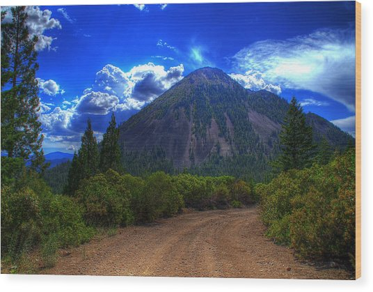 Black Butte Wood Print by Tom Melo