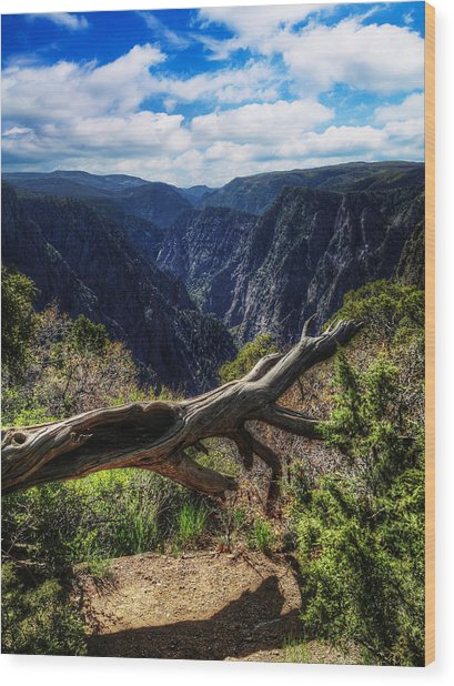 Black Canyon Of The Gunnison First Look Wood Print