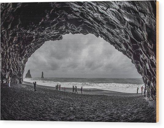 Wood Print featuring the photograph Black Diamond Beach, Iceland by Pradeep Raja PRINTS