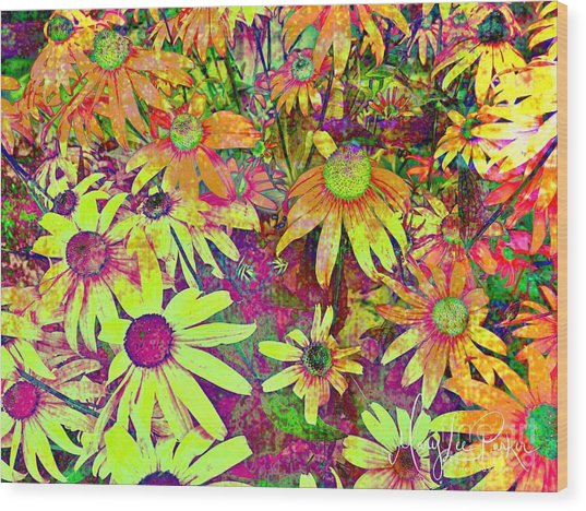 Black-eyed Susan   Abstract  Wood Print