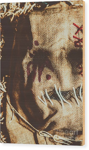 Black Eyes And Dried Out Hearts Wood Print