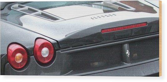Black Ferrari Wood Print by Deborah Brewer